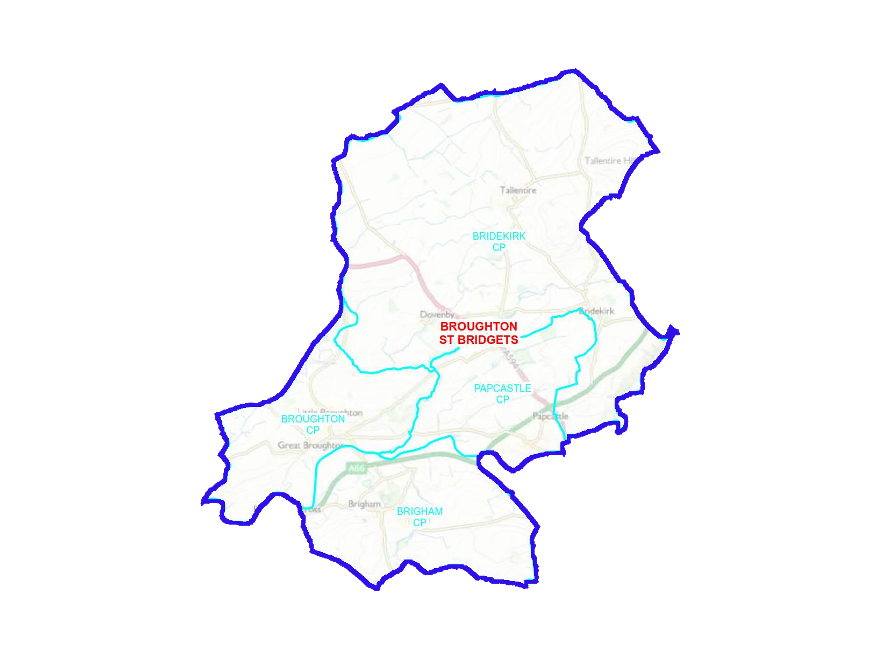 Broughton St Bridgets Ward Boundary